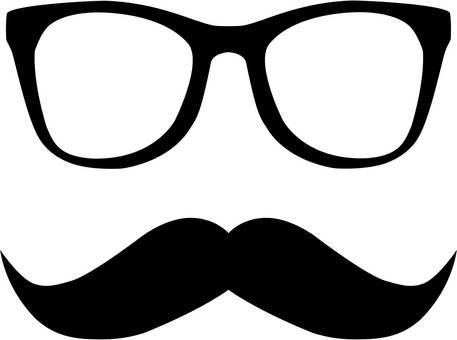 수염 안경