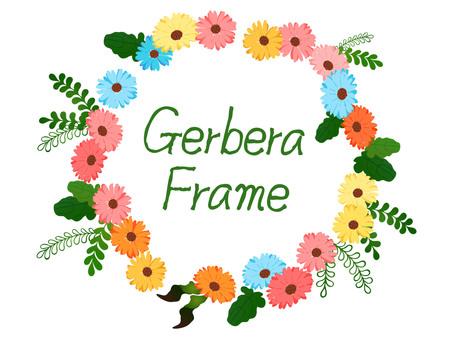 Gerbera frame colorful