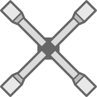 Cross wrench