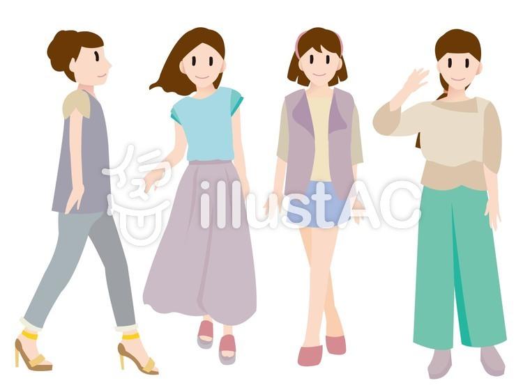 女性ファッションAイラスト , No 1177419/無料イラストなら
