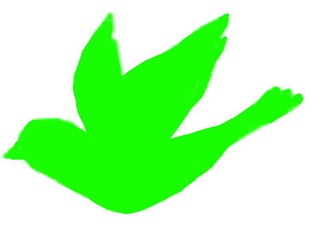 Bird silhouette green