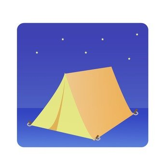 Night sky and tent