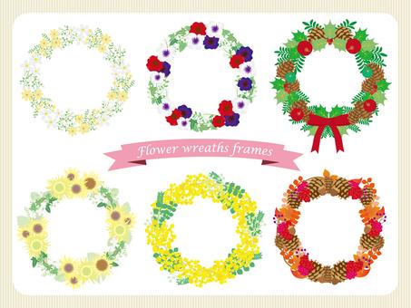 Flower lease frame set