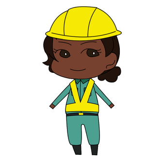 Black woman in work clothes shape 03