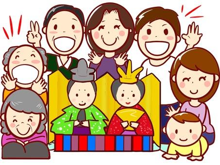 chacha family 4 generations Hina Matsuri