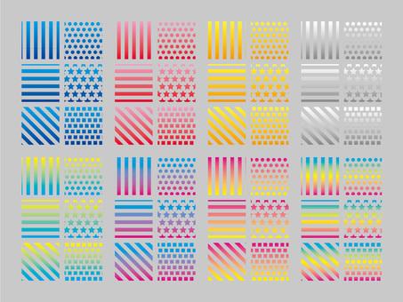 Transparent glade pattern