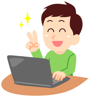 Men who use a computer