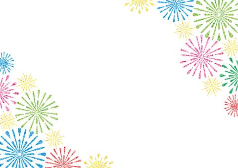 Fireworks frame (colorful)
