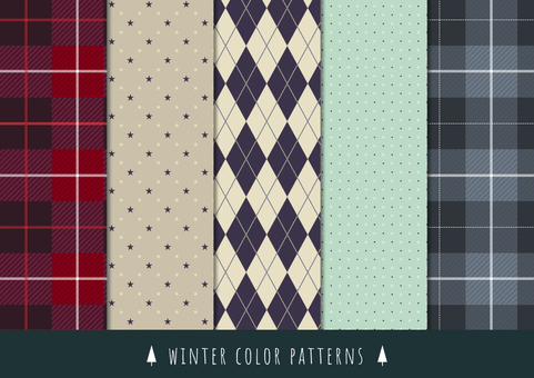 Winter background pattern Part 7 Winter color
