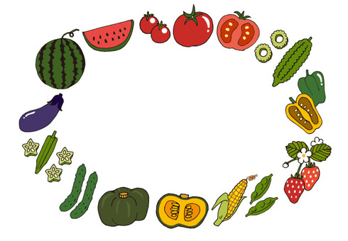 Summer vegetable set (color)