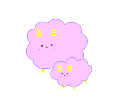 Pink parent and child sheep