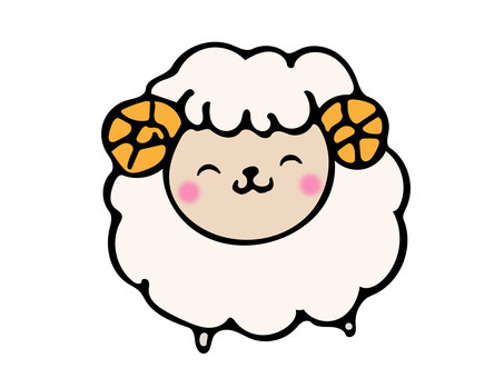 Sheep's smile