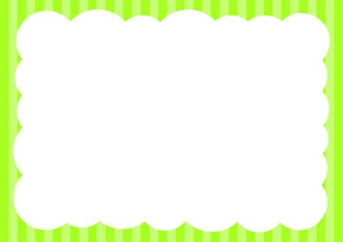 Shimashima pop bubble background green