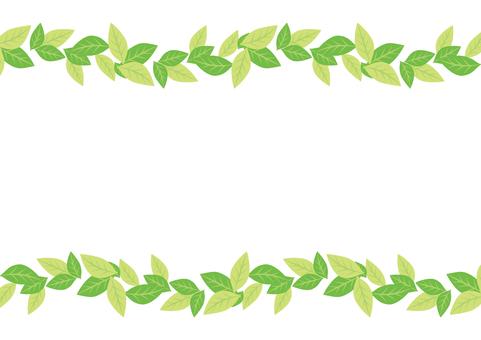 Green leaves frame 19