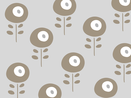 Scandinavian floral simple wallpaper pattern 01