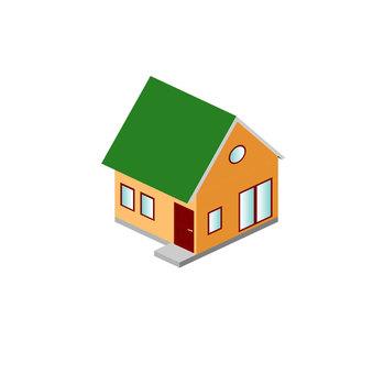 綠色的大屋頂房子