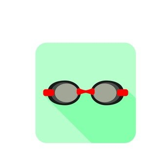 Underwater glasses icon