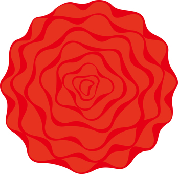 Paper flower red