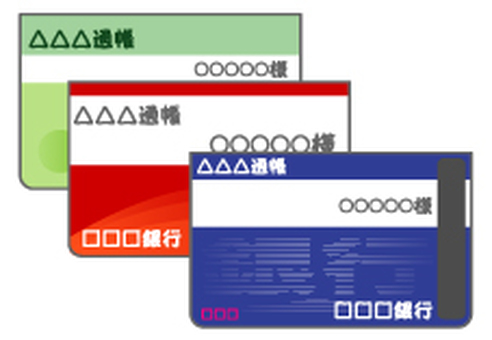 Bank passbook 3 type -01 (blue top)