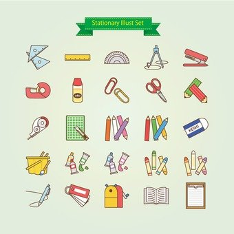 Illustration of stationery