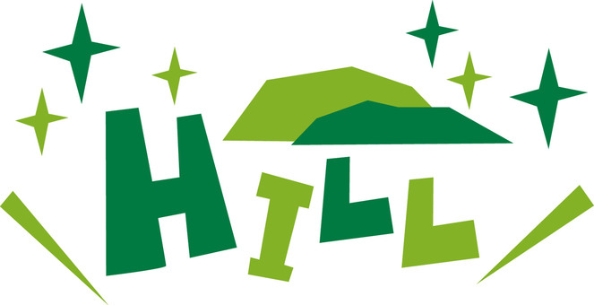 HILL ★ Hill ★ hill pop logo icon