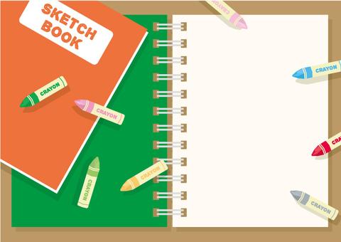 Sketchbook frame