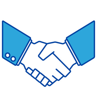 Handshake monochrome
