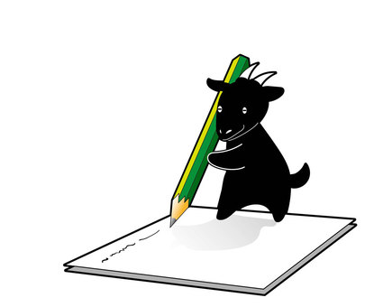 Write a black goat letter