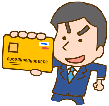 Men with credit cards