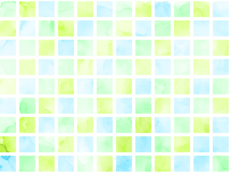Watercolor tile green