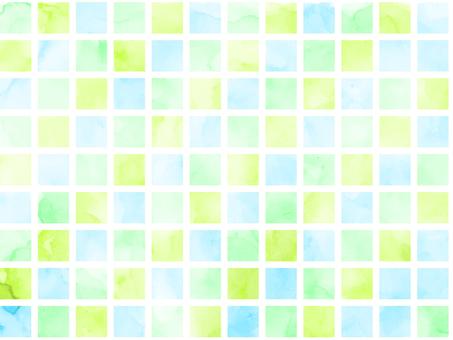 水彩瓷磚綠色