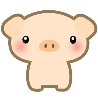 Illustration of child pigs