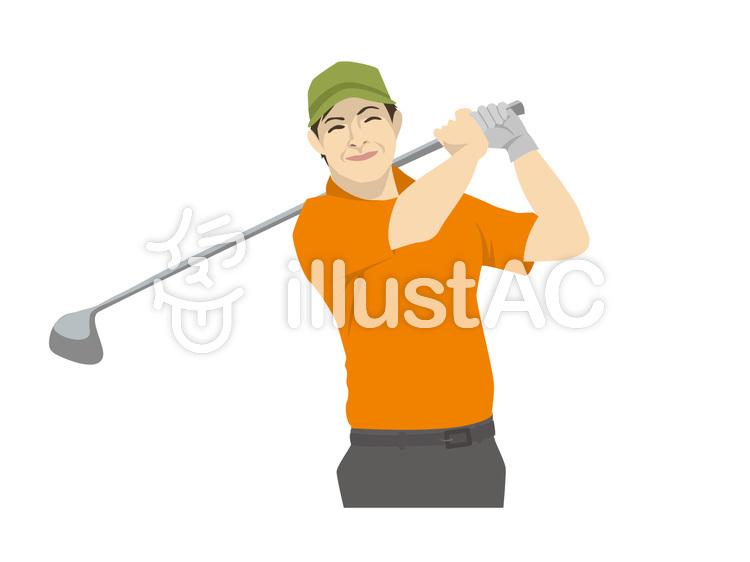 ゴルフおじさんのイラスト