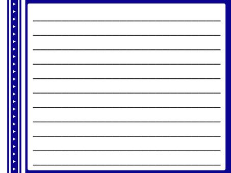 일기 메모 노트 수첩 블루