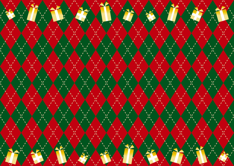 Christmas gift argyle background