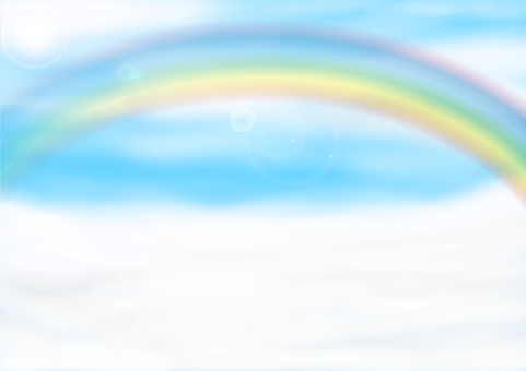 Rainbow over the clouds / Rainbow