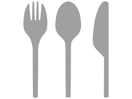 Fork and spoon and knife