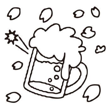 【主線 春】 桜 素材0009