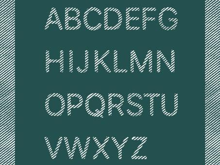 Alphabet bold letters on blackboard
