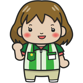 Convenience store clerk (female) Illustration