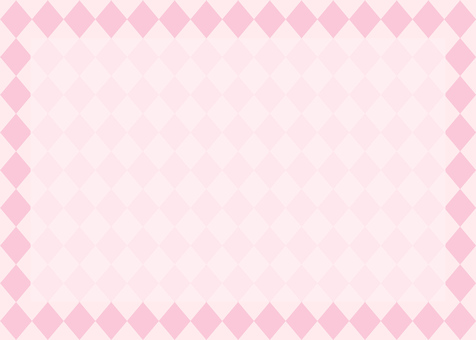 Diamond pattern frame pink