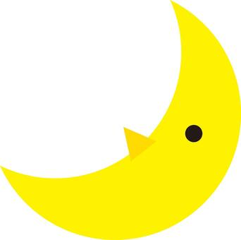 Moon, crescent, silhouette