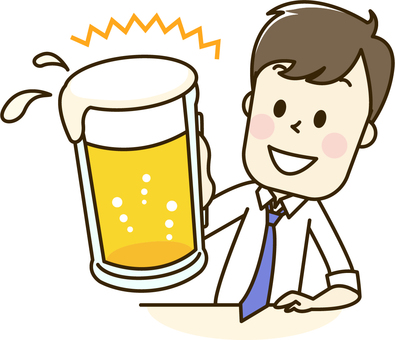 Male 2-1 beer drinking party