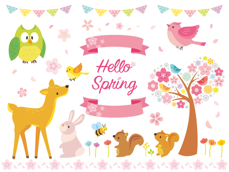 Spring illustration set (3)