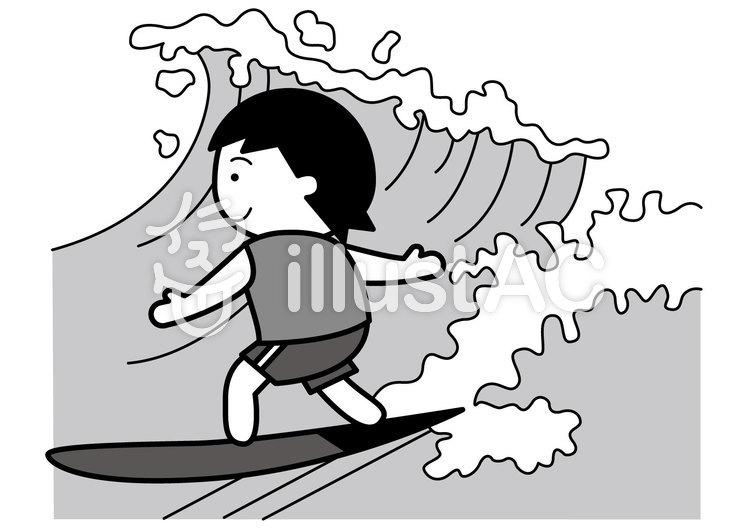サーフィン2cのイラスト