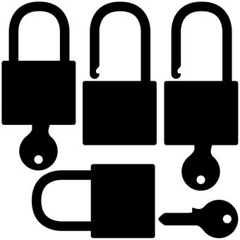 Silhouette padlock
