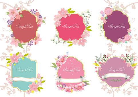 Seasonal Flower Frame Spring
