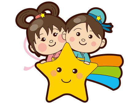 Tanabata - Orihime and Star on the stars