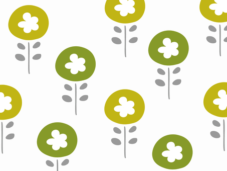 Nordic floral simple wallpaper pattern 76