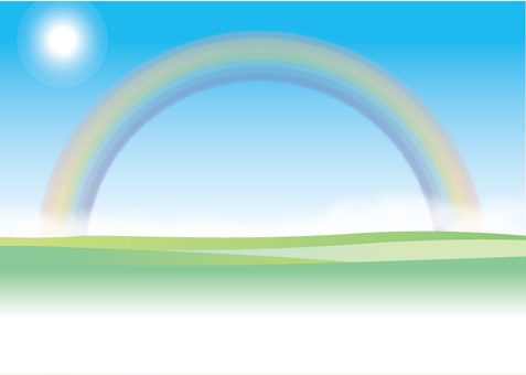 Rainbow meadow message card